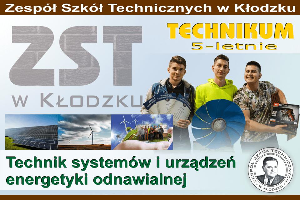 Slajd - technik systemów i urządzeń energetyki odnawialnej
