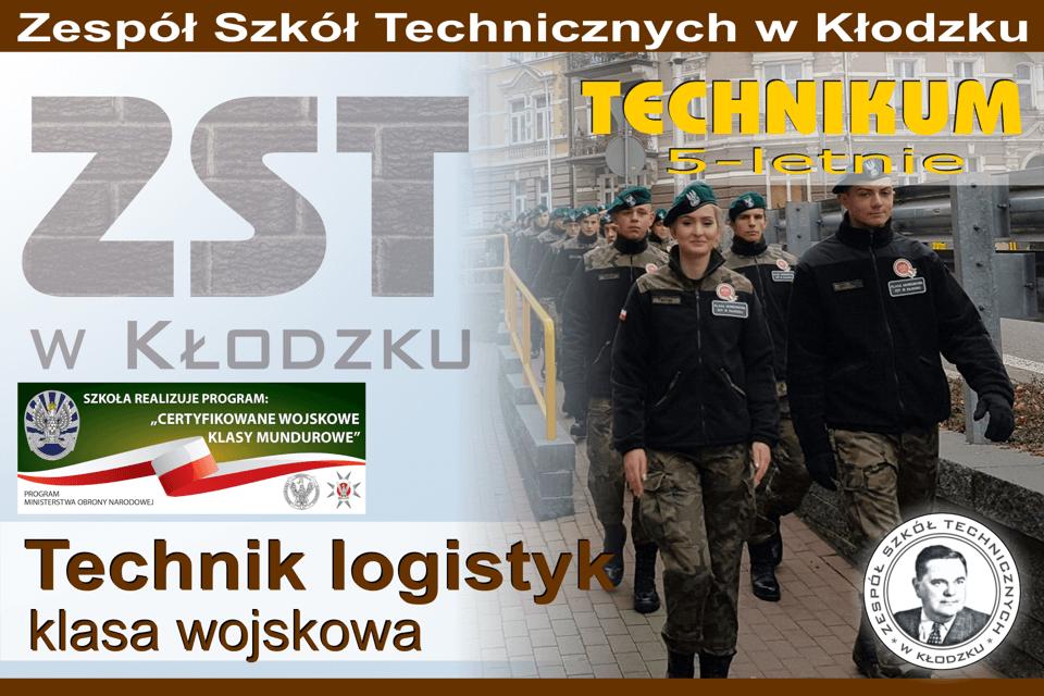 Slajd - technik logistyk mundurowy