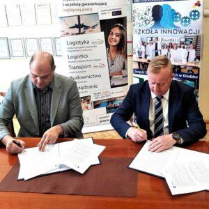 Międzynarodowa Wyższa Szkoła Logistyki i Transportu we Wrocławiu oraz Zespół Szkół Technicznych w Kłodzku podpisały umowę o współpracy
