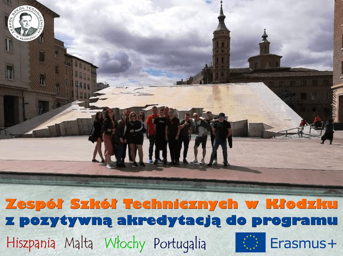 Zespół Szkół Technicznych w Kłodzku z akredytacją w programie Erasmus+