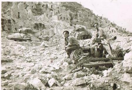 Leopold Oleniuk na Monte Cassino
