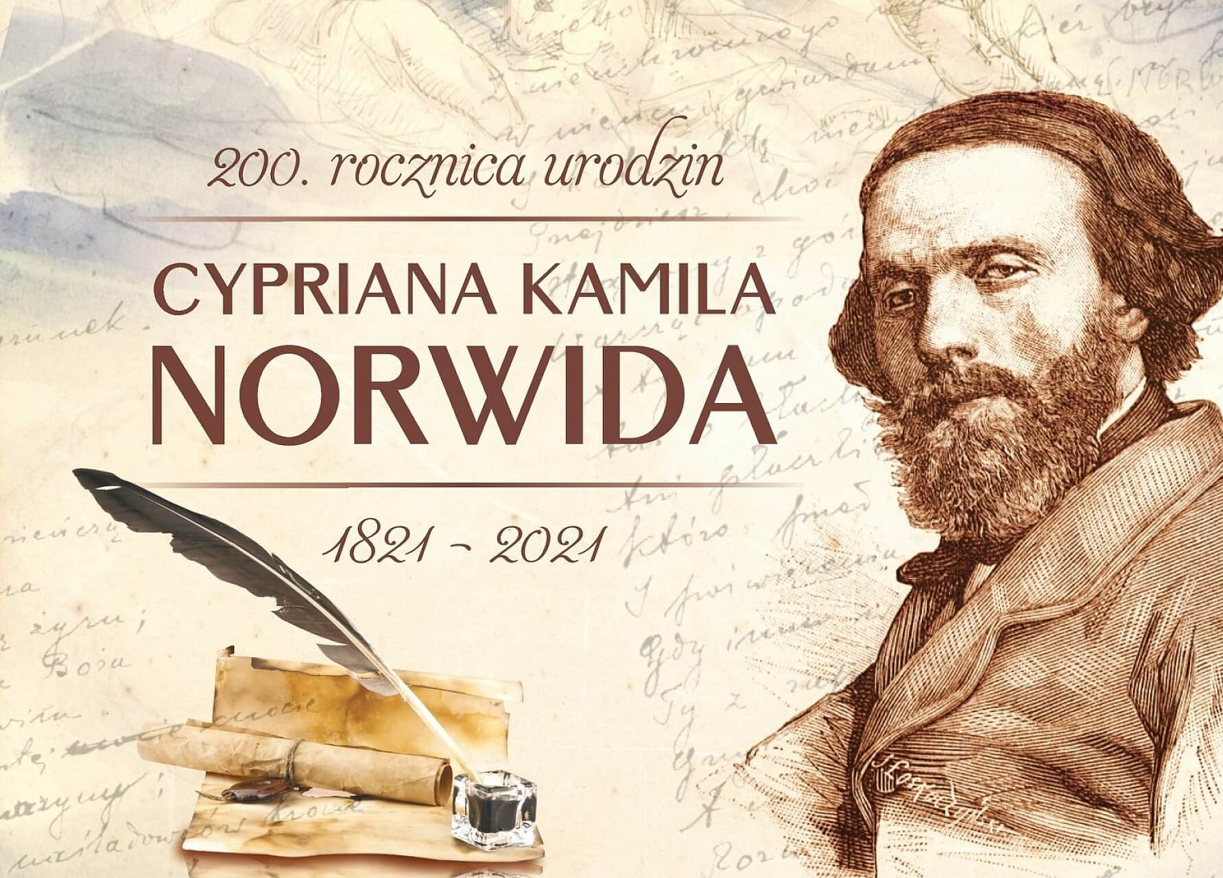 200. rocznica urodzin Cypriana Kamila Norwida