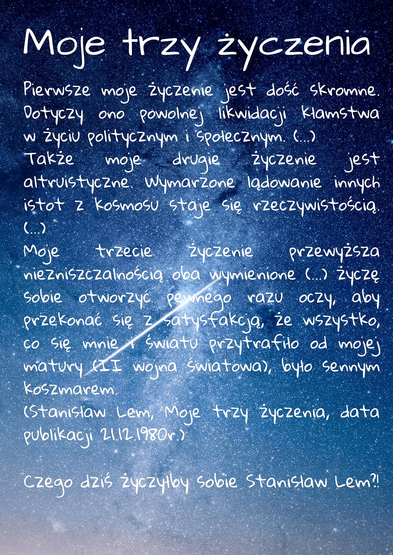 Setna rocznica urodzin Stanisława Lema - patrona roku 2021